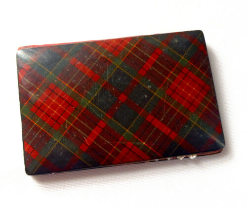 Vintage Tartan Ware Caledonia Plaid Needle Book Folder