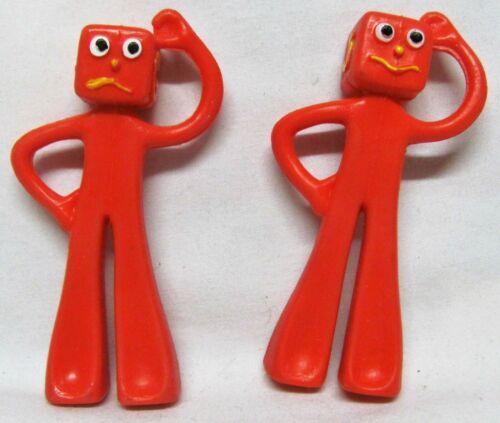 The Blockheads J And G Gumby & Pokey Nemesis Bendy Art Clokey Dated 1986 3 Inch