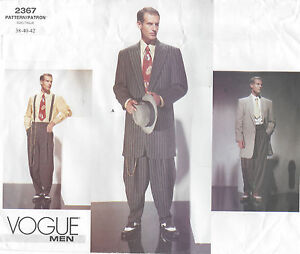 1940s Vintage VOGUE Sewing Pattern C38-40-42 MEN'S ZOOT SUIT (R827)