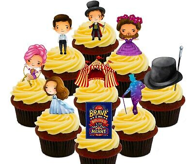 The Greatest Showman Pack of 36 Edible Cup Cake Toppers, Fairy Bun Decorations  - Cup Cake Decorations