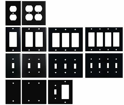 Matte Black Electrical Metal Wall Plate Covers Switch Plates & Outlet Covers   ()
