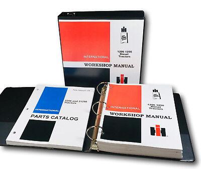 International Farmall 1256 Diesel Tractor Service Repair Manual Parts Catalog