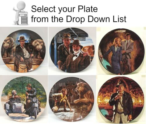 Indiana Jones Plate Collection from Delphi-Boxed w COAs- Your Choice of 6 or Set