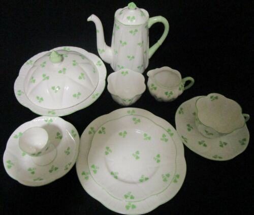 Shelley Dainty Dainty Shamrock Breakfast Set - 12 Pieces