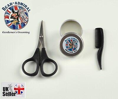 Rear-Admiral Moustache Kit 10ml Moustache Wax, Moustache Comb and Mini (Moustache Kit)