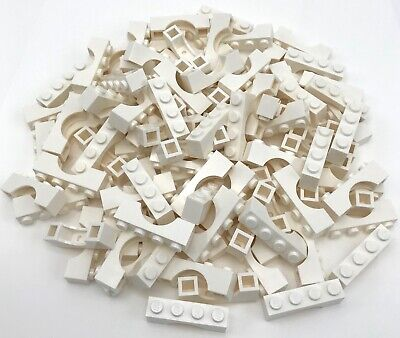 Lego 100 New White Bricks Arches 1 x 4 Castle Pieces Parts