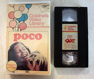 VHS: Poco: Lost Little Dog, Children's Video Library 1977 clamshell Chill Wills