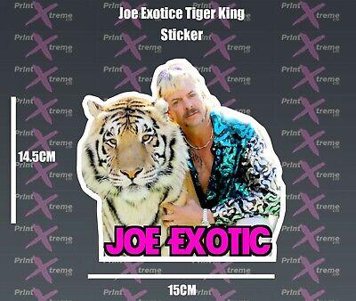 JOE EXOTIC Sticker, Tiger King car van Laptop toolbox funny meme carole baskin