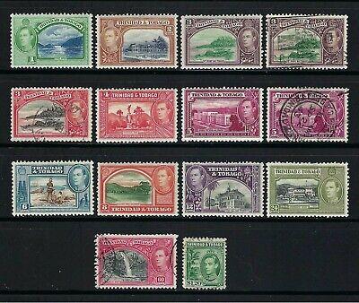 Trinidad & Tobago 1938-41 Sc#50//60  George VI Definitives  MH Used $19-2 SCANS