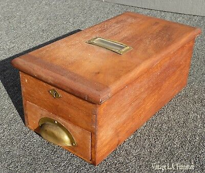 Rare Antique Solid Wood Cash Drawer Register Till By Chambers ~ Preston USA