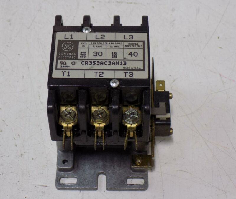 GENERAL ELECTRIC CONTACTOR CR353AC3AH1B
