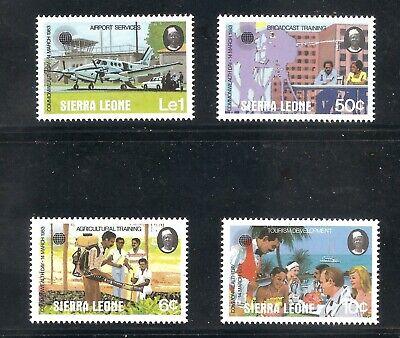 Sierra Leone  (1983)  - Scott # 581 - 584,