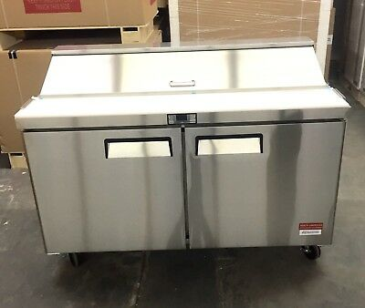 New 60 Sandwich Prep Unit Prep Table Cooler 16 Pan Refrigerator Sub Deli 5 F