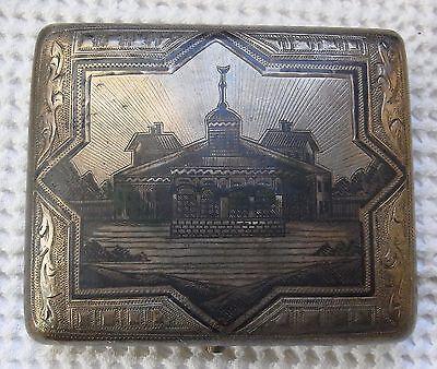 RUSSIA - ZIGARETTEN ETUI - TULA SILBER - NIELLO - 84 ZOLOT. - MOSKAU 1895 -143 g