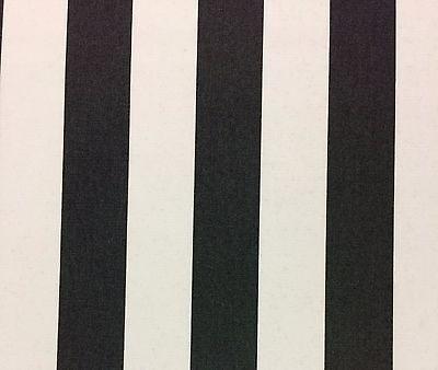 BALLARD DESIGN CANOPY STRIPE BLACK WHITE SUNBRELLA OUTDOOR FABRIC BY YARD 54