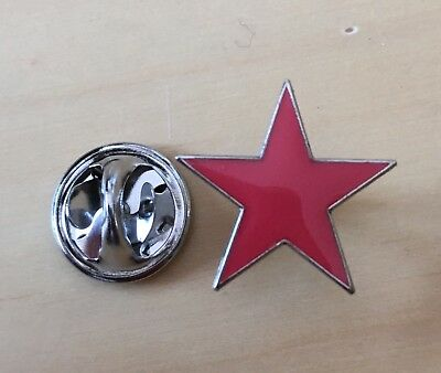 Roter Stern Pin / Anstecknadel Anstecker Badge red Star Antifa Punk TOP