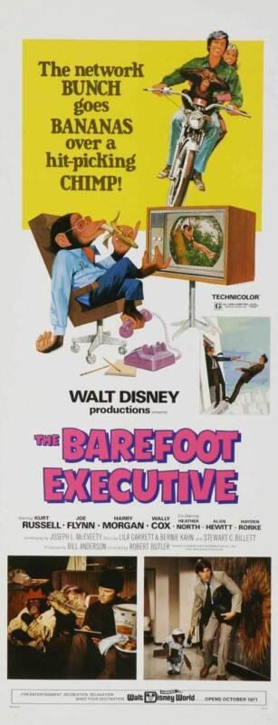 THE BAREFOOT EXECUTIVE Movie POSTER 14x36 Insert Kurt Russell John Ritter Harry