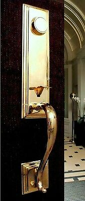 Dummy Handleset for Entry Door Fairmont New Scratched 10B Satin Nickel and Brass ()