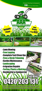AAA Lawn Mowing & Landscaping  $35* Blacktown Blacktown Area Preview