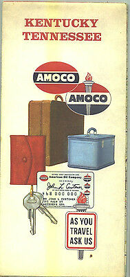 1960 Amoco Kentucky/Tennessee Vintage Road Map