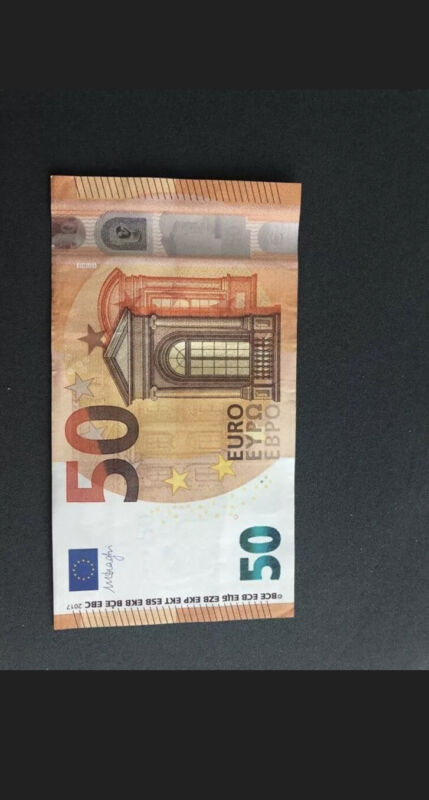 50 Euro Banknote. European Union.  50 Euros Note. Currency Ecb Bill. Euro. Z