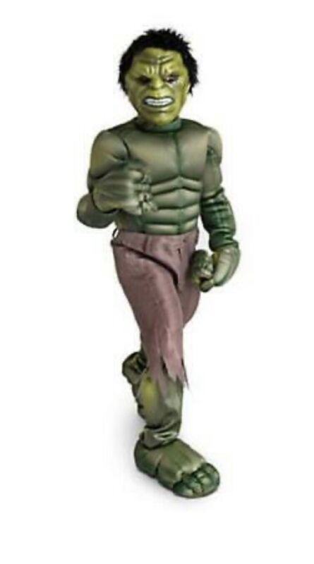 Disney Store The Avengers Boys Deluxe Incredible Hulk Costume L 10 Cosplay NWT