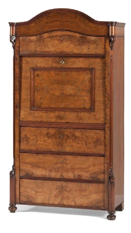Beautiful Antique 1840's Biedermeier Secretaire A Abattant