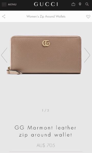 20a0d68aa8a Authentic Gucci GG marmont wallet
