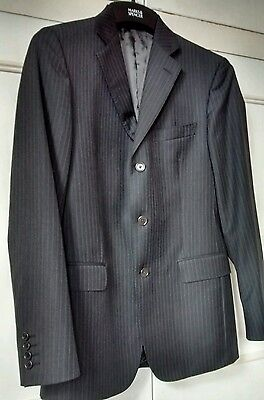 Brooks Brothers 1818 Men's Italian Wool Jacket Grey Pinstripe  Size 40 Reg