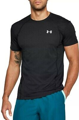 Men's New Under Armour Swyft T-Shirt Top Fitness Gym Training Running - Black