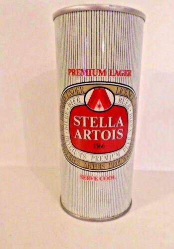 Vintage Scarce Stella Artois Premium Lager 15.5 oz Straight Steel Beer Can