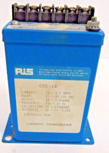 ROCHESTER INSTRUMENT SYSTEMS INC. CCC-1B CURRENT TRANSDUCER USED
