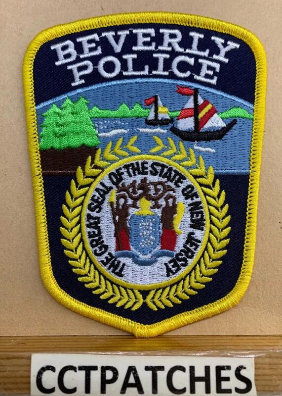 BEVERLY, NEW JERSEY POLICE SHOULDER PATCH NJ