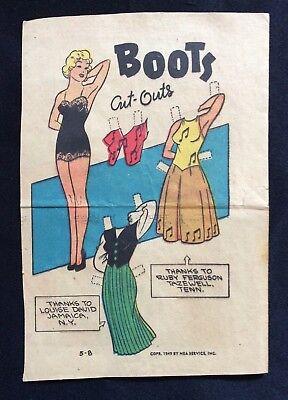 B012 VINTAGE ROCKERS BARBIE PAPER DOLL DOLLS GOLDEN BOOK 1986 1528 UNCUT UNUSED