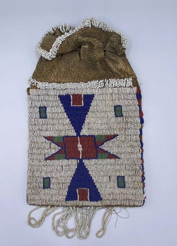 Native American  Plains Indian Beaded Bag
