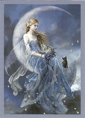 Nene Thomas Greeting Card WIND MOON FAIRY PRINT NEW
