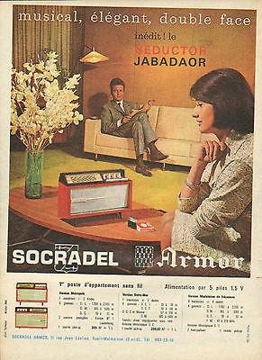 Publicité 1961 poste d'appartement sans fil seductor jabadaor socradel armor
