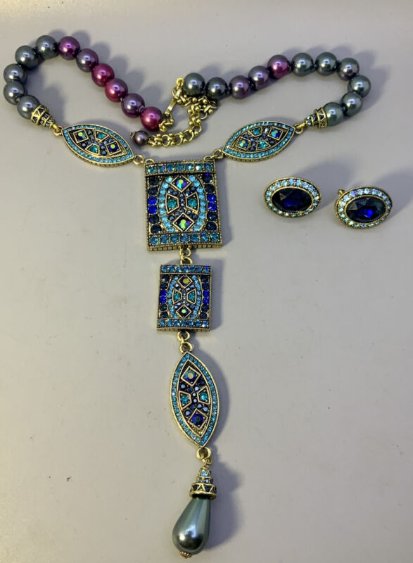 Heidi Daus Necklace And Earrings Set