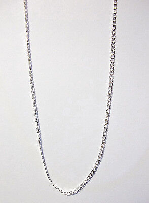 Beautiful  925 Sterling Silver 2 Mm Curb Chain Necklace 26  Long   Retail   59