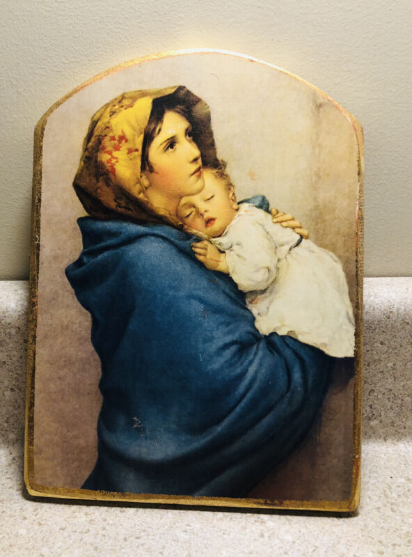 #D281~ Madonna of the Streets Vintage Plaque Wall