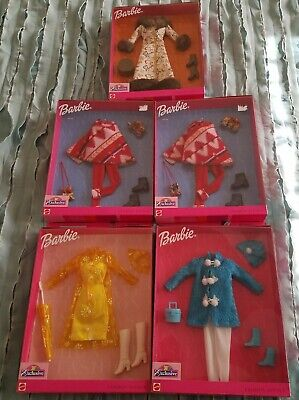 Mattel Barbie Fashion Avenue Toys R Us Exclusive Coats lot of 5