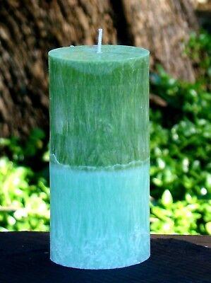 Gardeners Herbal Mint - 200hr GARDENERS HERBAL MINT Scented ART CANDLE Landscaper & Kitchen Garden Gift