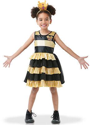 Queen Bee LOL Surprise Lizenz-Kostüm für Kinder schwarz-gelb - Queen Bee Kostüm