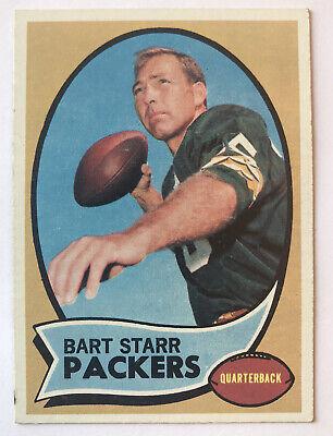 1970 Topps Football Bart Starr Card #30 VG-EX Green Bay Packers HOF