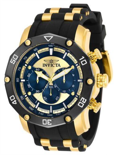 Invicta 30079 Pro Diver Men's 50mm Chronograph Gold-Tone Blu