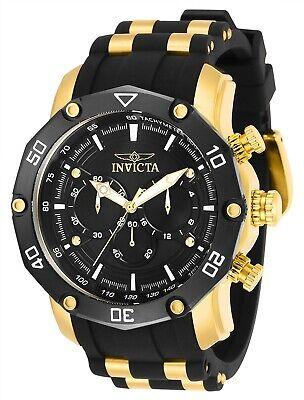 Invicta 30080 Pro Diver Men's 50mm Chronograph Gold-Tone Black Dial Watch