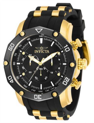 Invicta 30080 Pro Diver Men's 50mm Chronograph Gold-Tone Bla