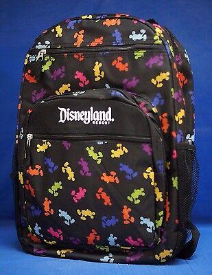Disney Disneyland Resort Zippered Backpack Mickey Mouse Bag NWT