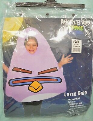 Halloween Child COSTUME One Standard SIZE ANGRY BIRDS SPACE Lazer Bird BOY Girl (Girl Bird Costume)