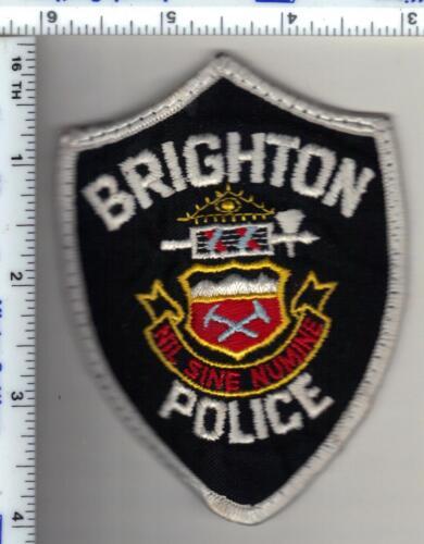 Brighton Police (Colorado) Uniform Take-Off Shoulder Patch - from 1986